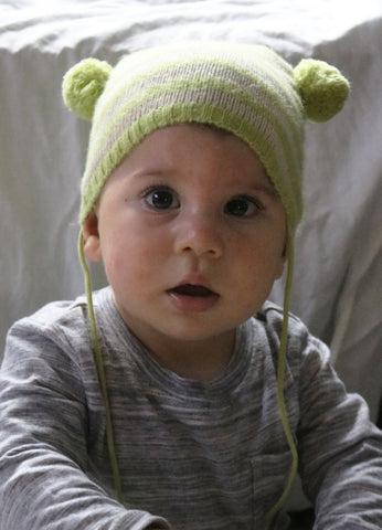 bdb018643ec STRIPED BABY HAT WITH SIDE POM POMS.  32.00.  45.00. You Save 29%. light  green  light green ...