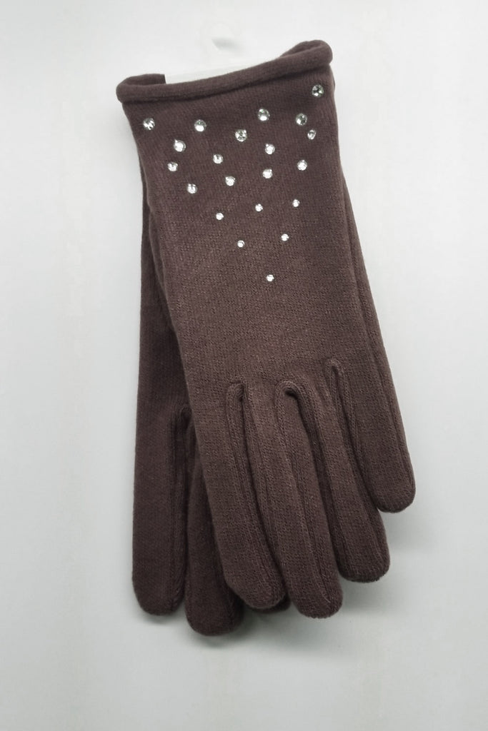 FABRIC GLOVES WITH STONES