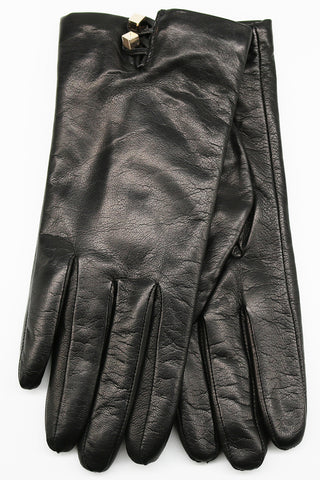 SHORT GLOVES WITH JEWEL BUTTONS