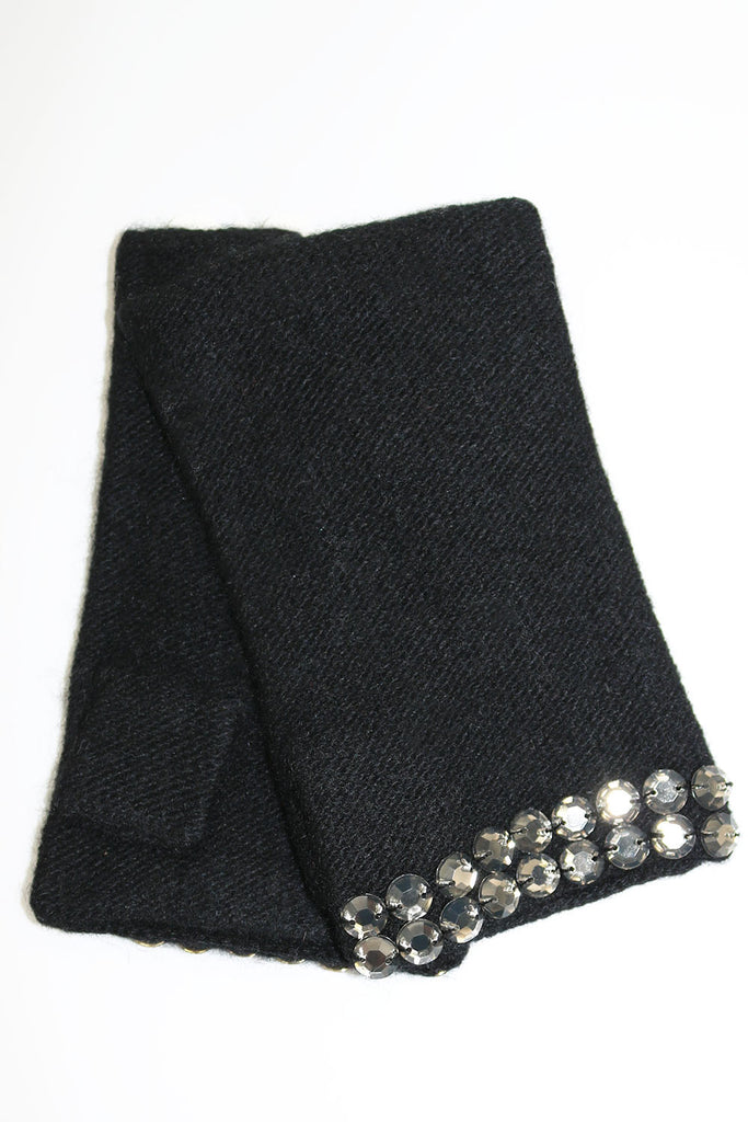 FINGERLESS GLOVES WITH STONES