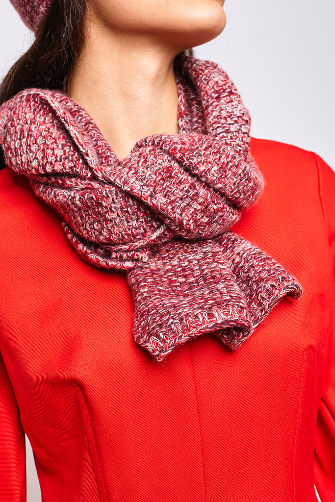 LADIES TWEED SCARF WITH LUREX