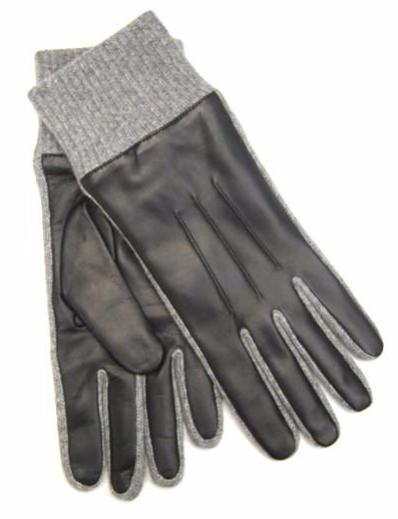 Nappa gloves with cashmere knitted cuff