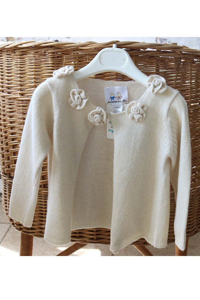 BABY GIRL SWEATER WITH FLOWERS