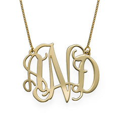 10KT SOLID GOLD MONOGRAM