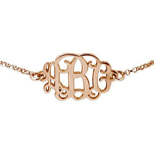 JOCELYN MONOGRAM BRACELET, ROSE