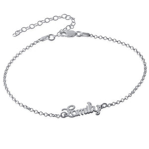 NAME ANKLET, SILVER