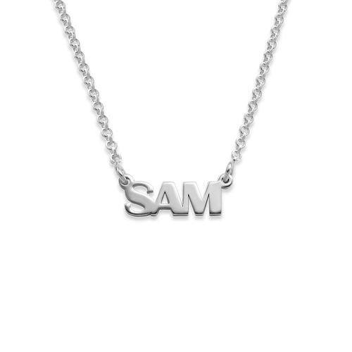 CAPITAL LETTER NAME NECKLACE, SILVER