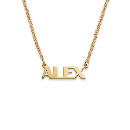 CAPITAL LETTER NAME NECKLACE, GOLD