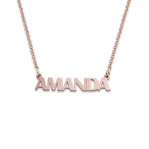 CAPITAL LETTER NAME NECKLACE, ROSE