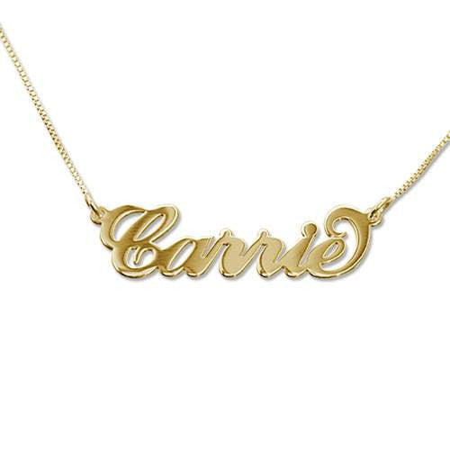 CARRIE NAME NECKLACE, 18KT SOLID GOLD