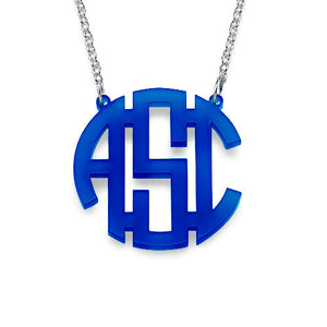 MCKENNA ACRYLIC MONOGRAM NECKLACE
