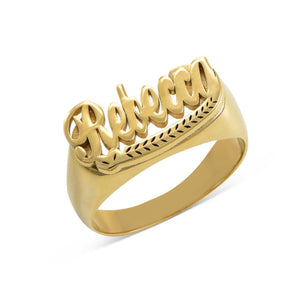 STATEMENT NAME RING, GOLD