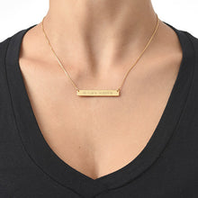 Load image into Gallery viewer, COORDINATES BAR NECKLACE, GOLD