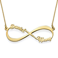 INIFINITE LOVE NECKLACE, GOLD