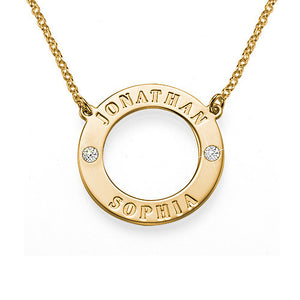 HARPER CIRCLE SWARVOSKI CRYSTAL NECKLACE, GOLD