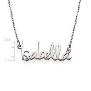 TINY NAME NECKLACE, SILVER