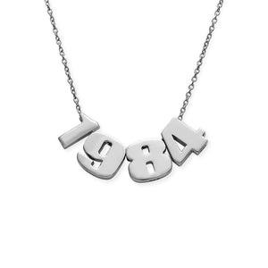 NUMBER NECKLACE, SILVER