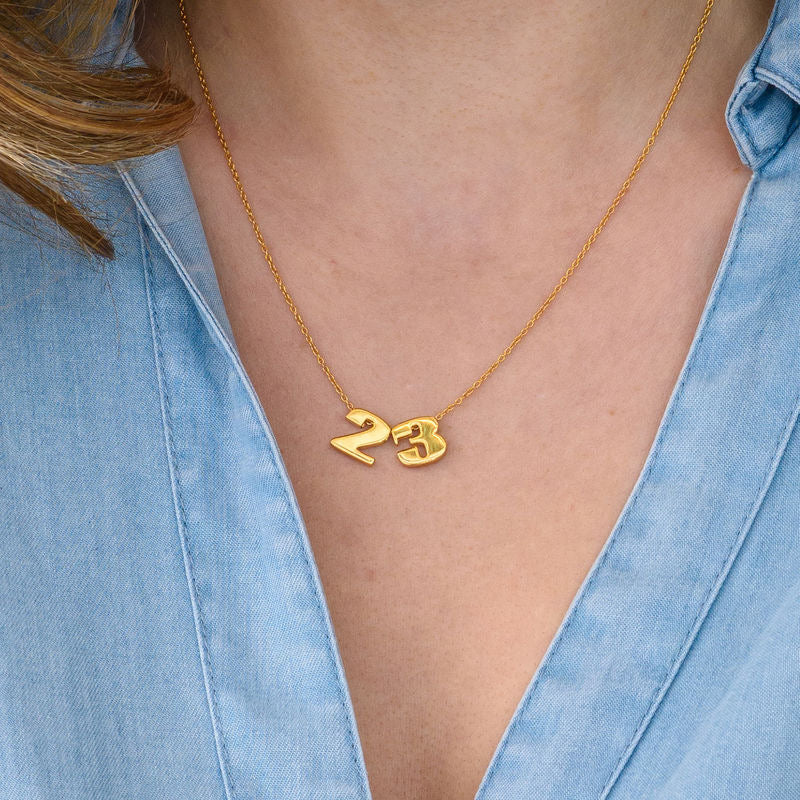 NUMBER NECKLACE, GOLD