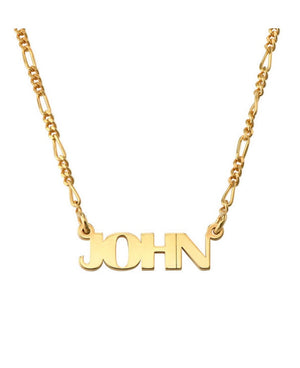 FIGARO NAME NECKLACE, GOLD