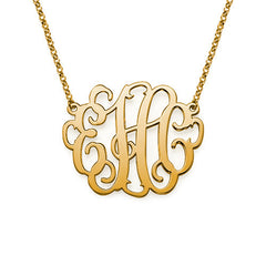 "1"" LAUREN MONOGRAM NECKLACE, GOLD"