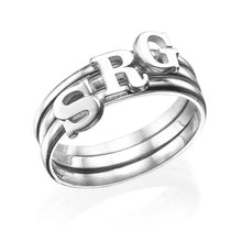 Load image into Gallery viewer, GIGI INITIAL RING, SILVER