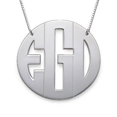 XL BLOCK MONOGRAM, SILVER