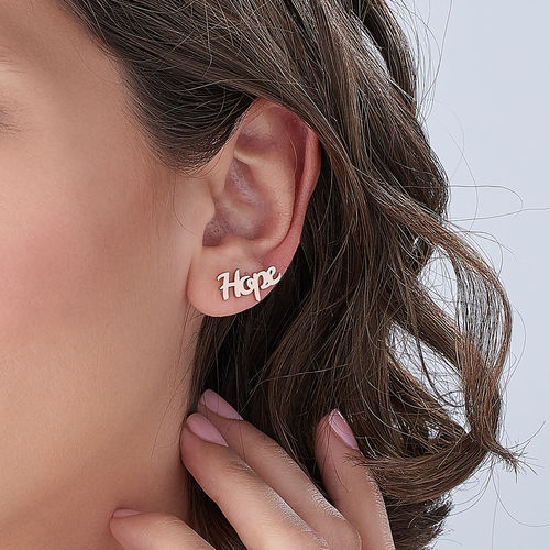 PERSONALIZED EAR CRAWLERS, ROSE