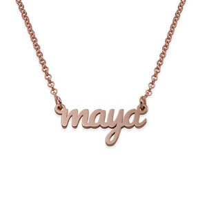 REESE NAME NECKLACE, ROSE