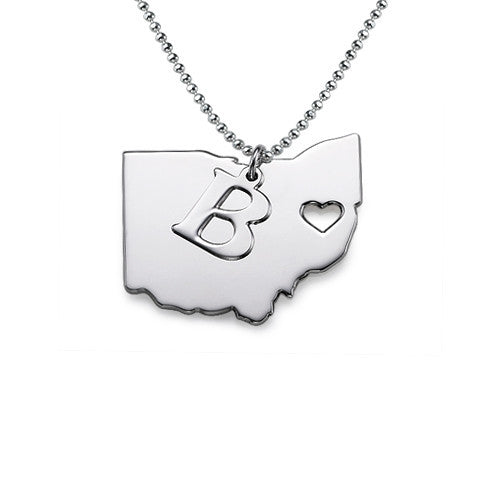 State Necklace, Silver