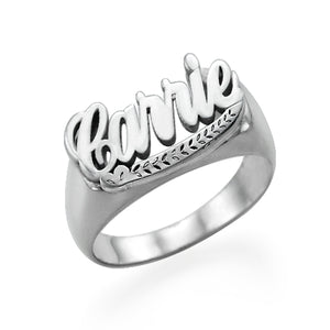 90'S NAME RING, SILVER