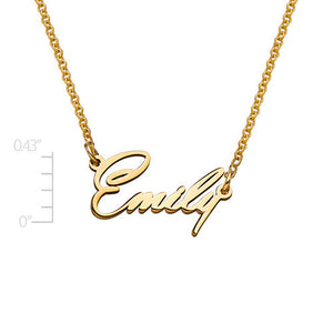 TINY NAME NECKLACE, GOLD