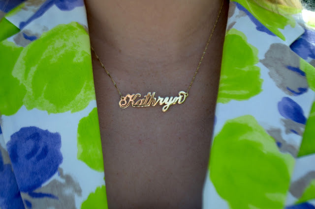 CARRIE NAME NECKLACE, 14KT SOLID GOLD