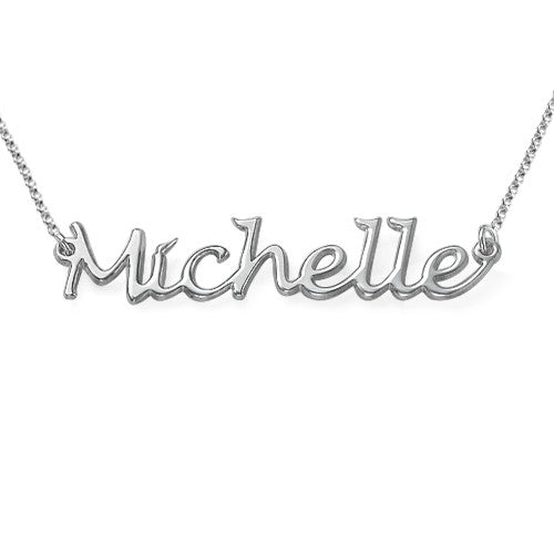 HANDWRITTEN NAME NECKLACE, SILVER