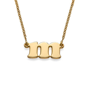 LOWERCASE INITIAL NECKLACE, GOLD