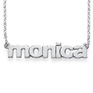 LOWERCASE NAME NECKLACE, SILVER