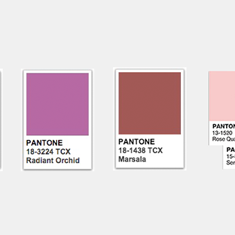 Pantone Color of the Year: A Walk Down Memory Lane