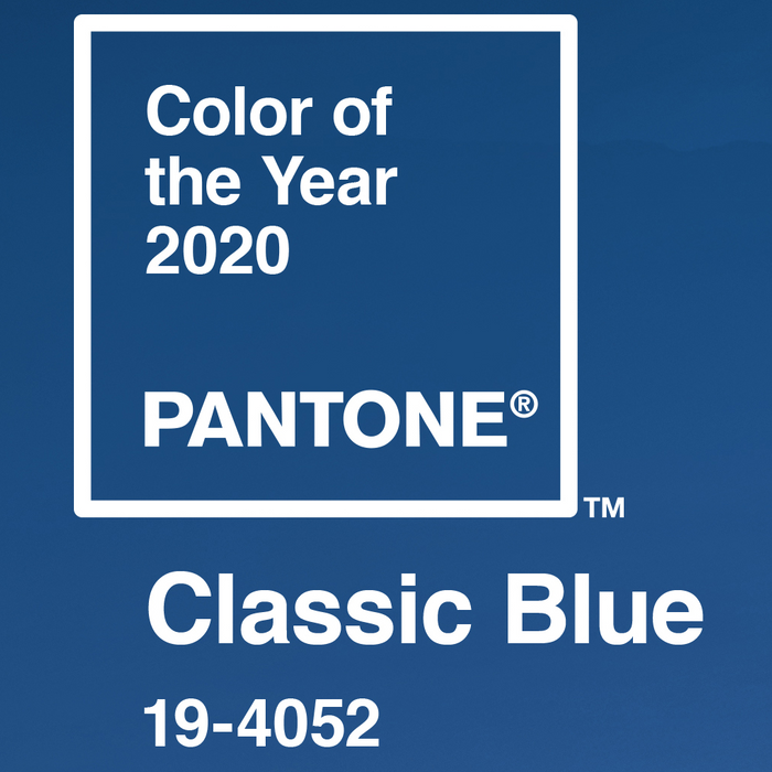 Introducing the Pantone Color of the Year for 2020: 19-4052 Classic Blue