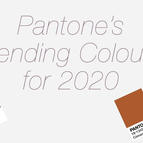 Pantone's Trending Colours for 2020
