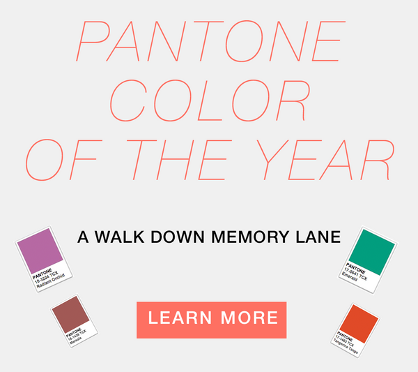 Past Pantone Color of the Year's