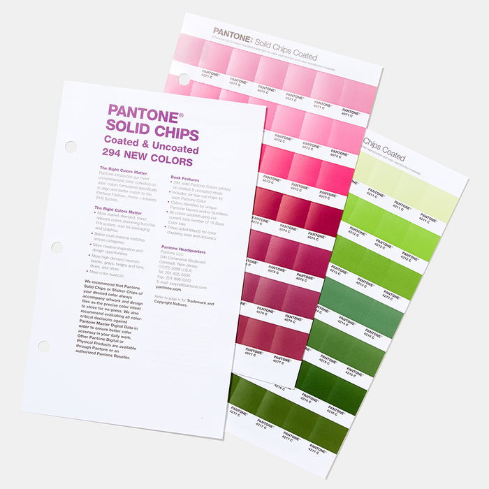 PANTONE Solid Chips Coated & Uncoated Supplement (2 Book set)