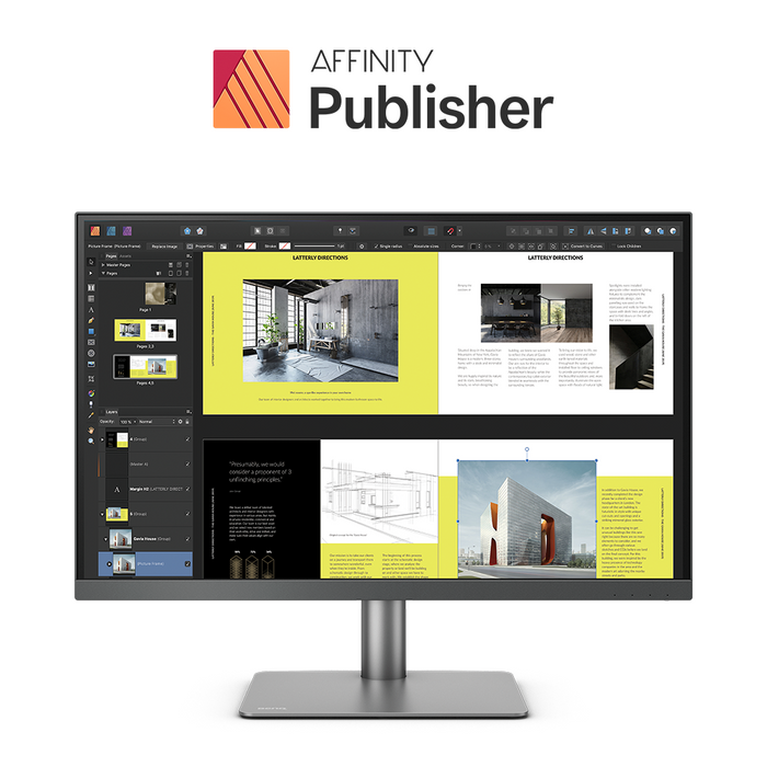 BenQ PD2720U Pro 27in IPS Monitor With Affinity Publisher