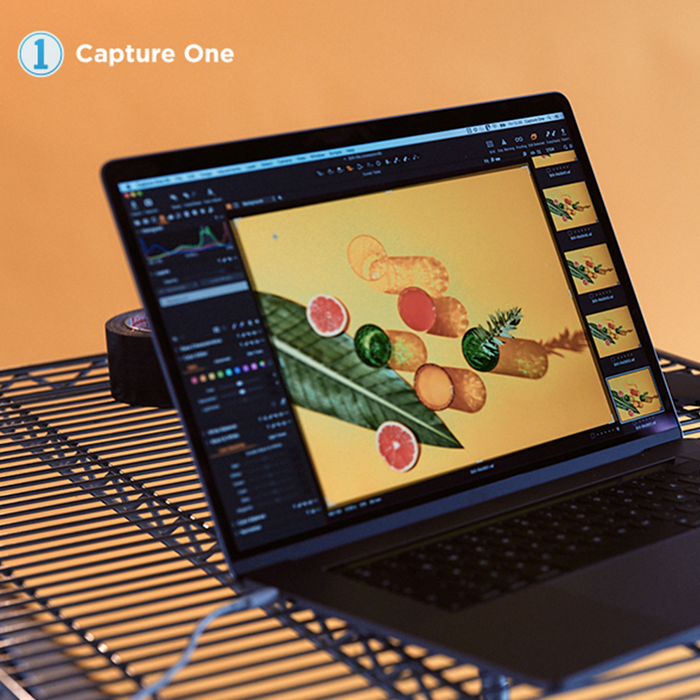 Laptop using the the Capture One Pro 20 for Fujifilm cameras editing software.