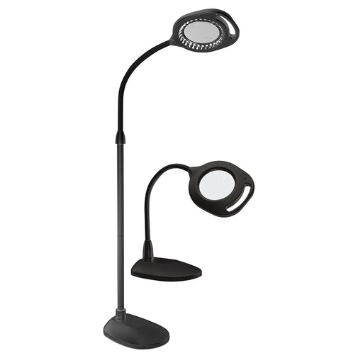OttLite 2-in-1 LED Mag Floor & Table Black