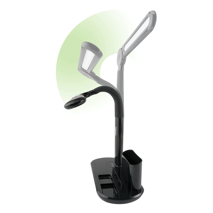 Ottlite LED Modern Banker with Pivot Shade