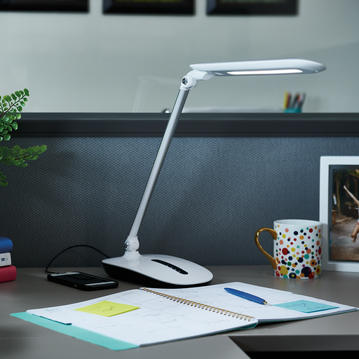 OttLite Workwell - Slide Desk Lamp - White