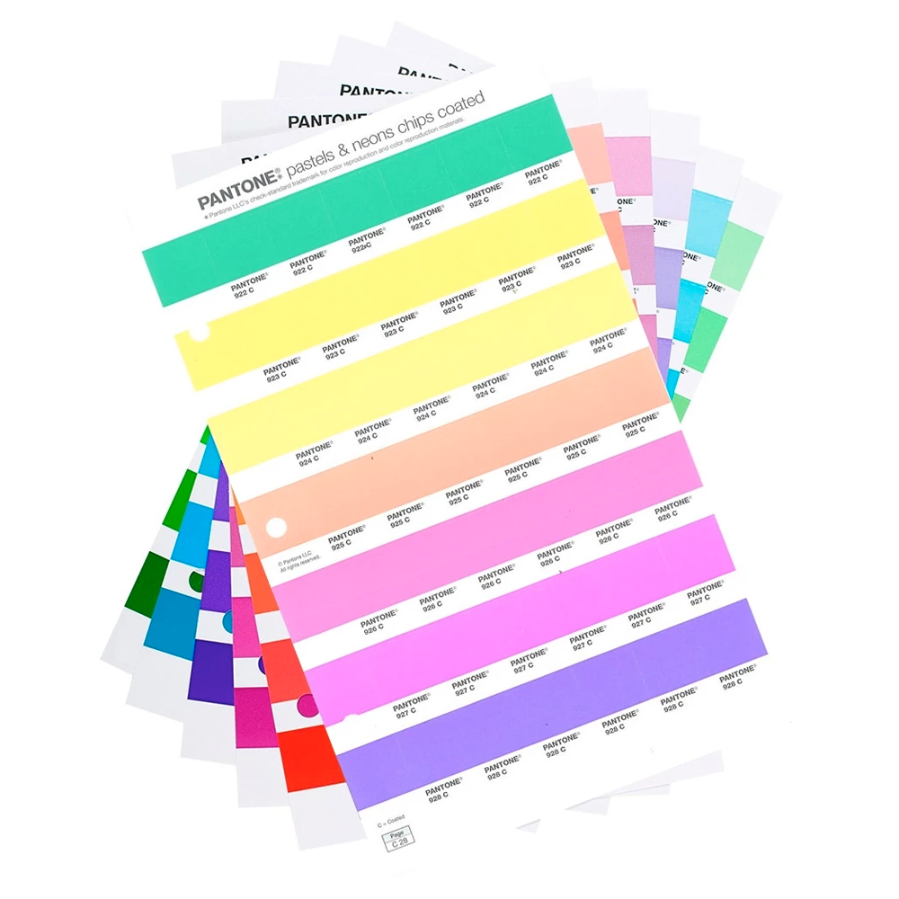 PANTONE Pastels & Neons Chips replacement pages Coated (1 pk)