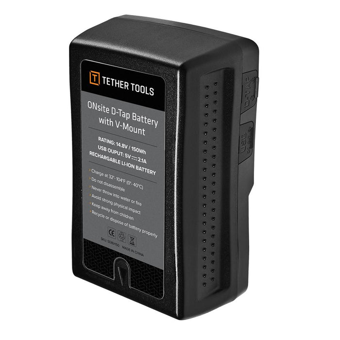 Tether Tools ONsite D-Tap Battery with V-Mount