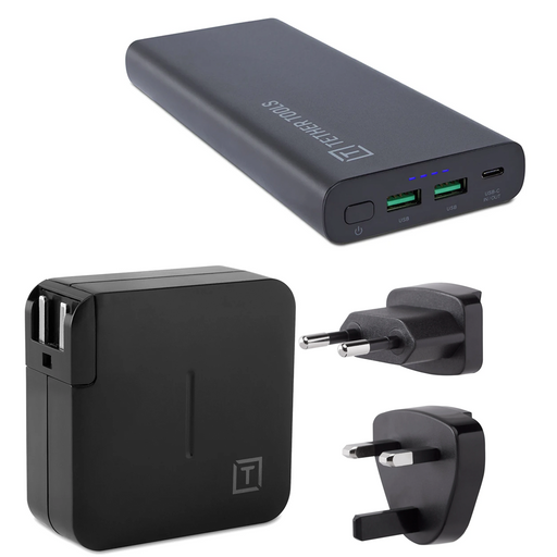 Tether Tools ONsite 87W USB-C PD Battery Pack with ONsite USB-C 61W Wall Charger