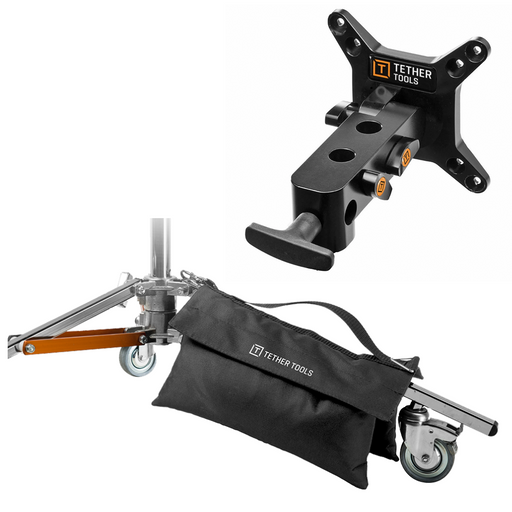 Tether Tools Rock Solid VESA Studio Monitor Mount for Stands with FREE Dual Wing Sand Bag