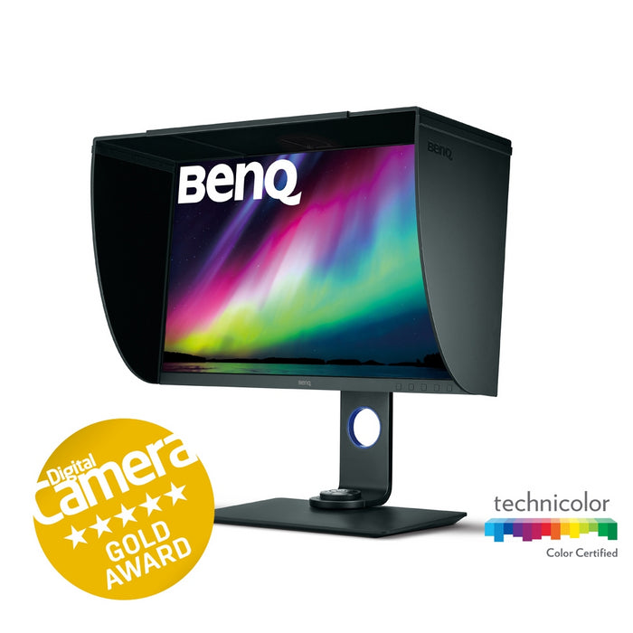 BenQ SW271 Pro 27in IPS LCD Monitor Right View with Hood